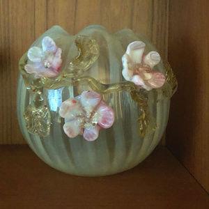 RARE 1890's Stevens & Williams Vaseline Glass Vase